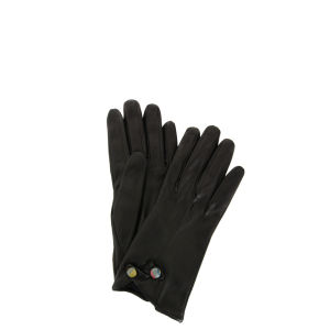 Paul Smith Accessories Women's Swirl Button 137B-G50 Gloves - Black