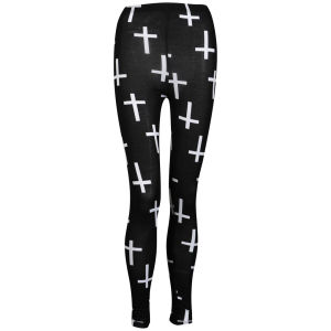 Influence Women's Cross Graphic Print Leggings - Black
