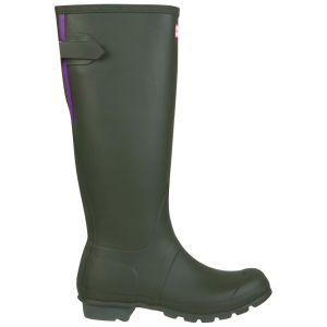Hunter  Women's Original Back Adjustable Wellies - Dark Olive/Sovereign Purple