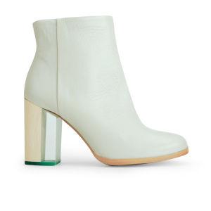 Miista Women's Ali Heeled Leather Ankle Boots - Mint