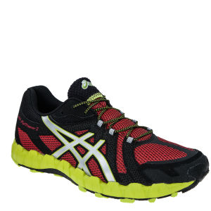 Asics Men's Gel Fuji Trainer 3 Running Trainers - Fire Red/Silver/Lime