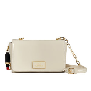 Lulu Guinness Verity Patent Leather Medium Cross Body Bag - Stone