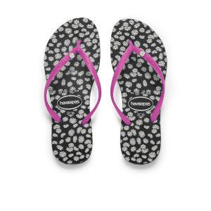 Havaianas Women's Slim Sunny Flip Flops - Black/Pink