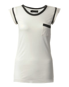 Religion Women's Edged Cap T- Shirt - White