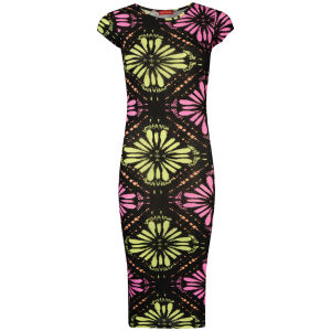 Influence Women's Neon Printed Geo Midi Dress - Multi