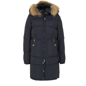 Parajumpers Women's Light Long Bear Coat - Navy