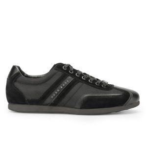 BOSS Green Men's Stiven Suede Trainers - Black