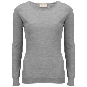 John Smedley Women's Rochelle Cashmere Crew Neck T-Shirt - Silver