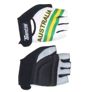 Santini Australia National Team Cycling Gloves - 2013