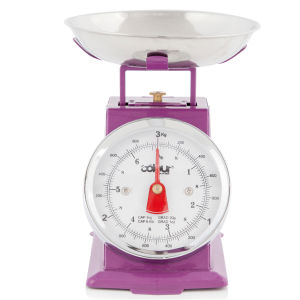 Cook In Colour 3kg Mini Traditional Kitchen Scales - Purple