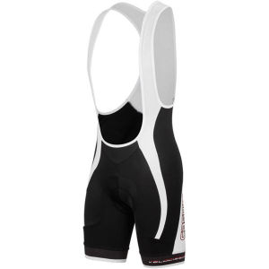 Castelli Velocissimo Gt Bib Shorts - Black/White