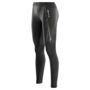 Skins A400 Womens Active Compression Long Tights - Black/Gold