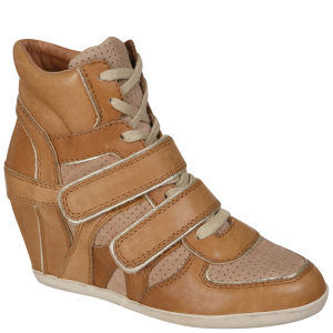 Ash Women's Bixi Wedged Hi-Top Trainers - Natural/Chamois/Platine