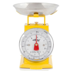 Cook In Colour 3kg Mini Traditional Kitchen Scales - Yellow