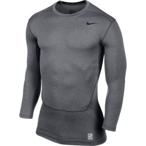 Nike Men's Core 2.0 Compression Long Sleeve Top - Carbon Heather