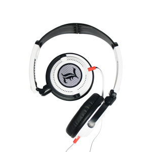 Fischer Audio Draco Headphones with Multifunction Remote and Mic - White