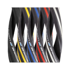 Schwalbe Lugano Clincher Road Tyre - Black 700c x 23mm + FREE Inner Tube