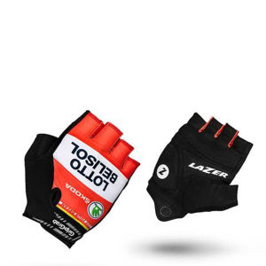 Lotto Belisol Team Replica Cycling Gloves - Black 2014