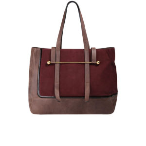 Rupert Sanderson Viki Leather Tote - Burgundy Crosta and Bronze