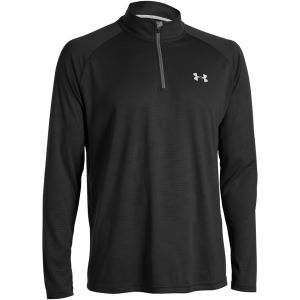 Under Armour Men's Tech 1/4 Zip Long Sleeve Top - Black/White