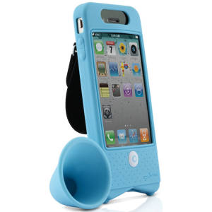 Bike Horn Amplifier for iPhone 4 - Blue