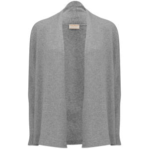 John Smedley Women's Betty Wrap Cashmere Blend Cardigan - Silver