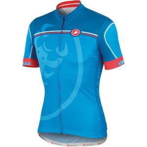 Castelli Velocissimo Giro Full Zip Jersey - Blue