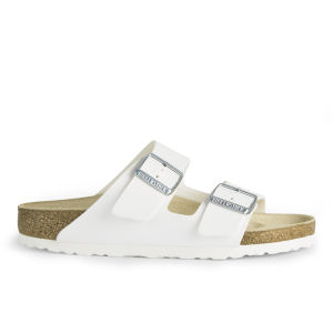 Birkenstock Women's Arizona Slim Fit Double Strap Leather Sandals - White