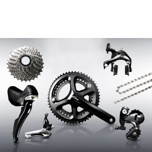 Shimano 105 5800 11 Speed Groupset - Black - 52/36