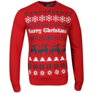 Christmas Branding Alpine Crew Neck Sweat - Super Warm Red