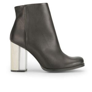 Miista Women's Ali Heeled Leather Ankle Boots - Black