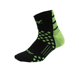Zoot Men's TT Quarter Socks - Black/Green Flash