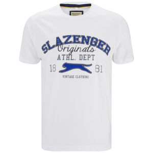 Slazenger Men's Waddle T-Shirt - White/Blue
