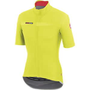Castelli Gabba 2 Short Sleeve Wind/Rain Jersey - Yellow Fluo