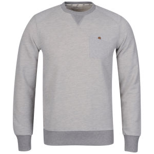 Boxfresh Men's Halle Classic Varsity Crew Neck Sweat - Grey Marl