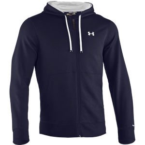 Under Armour Men's Charged Cotton Storm Transit Full Zip Hoody - Navy/White