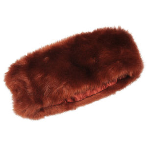 Women's Faux Fur Headband - Burnt Orange