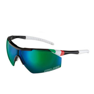 Salice 004 ITA Sports Sunglasses - Black/Green
