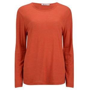 T by Alexander Wang Women's Linen T-Shirt - Cola