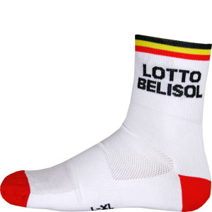 Lotto Belisol Team Replica Socks - Red 2014