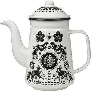 Folklore Enamel Tea and Coffee Pot