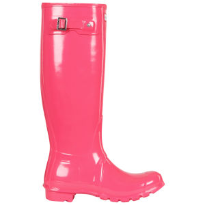 Hunter Women's Original Tall Gloss Wellies - Crimson Pink
