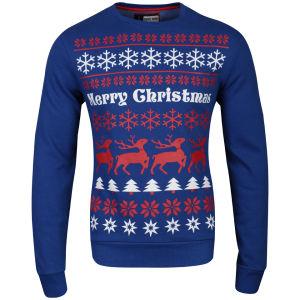 Christmas Branding Alpine Crew Neck Sweat - True Blue
