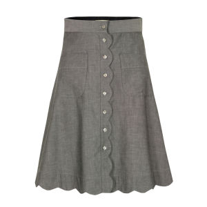 Bolzoni & Walsh Women's SK03 V2 Scalloped Pocket Skirt - Grey