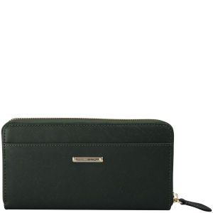 Rebecca Minkoff Saffiano Luma Leather Large Zip Wallet - Hunter
