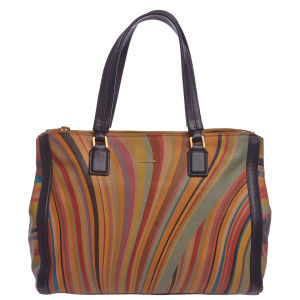 Paul Smith Accessories Women's Double Zip Leather Tote Bag - Multi Swirl