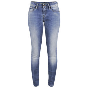 Denham Women's Sharp FFS Mid Rise Mis Rise Skinny Jeans - Light Wash
