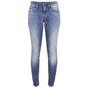 Denham Women's Sharp FFS Mid Rise Mis Rise Skinny Jeans - Light Wash