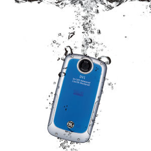 GE DV1 Waterproof Pocket Video Camera - Blue