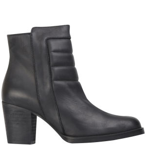 Kurt Geiger Women's Arno Heeled Leather Ankle Boots - Black